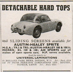 Universal Laminations Hard Top ad